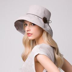 Ladies ' Elegant Bomuld/Linned Strand / Sun Hatte