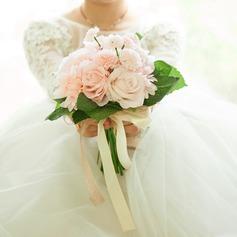 Rond Satiné Bouquets de mariée/Bouquets de demoiselle d'honneur (vendu en une seule pièce) -