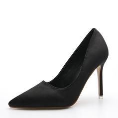 De mujer Satén Tacón stilettos Salón Cerrados zapatos