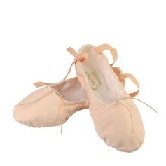 Женщины Холст На плокой подошве Балет с бантом Обувь для танцев