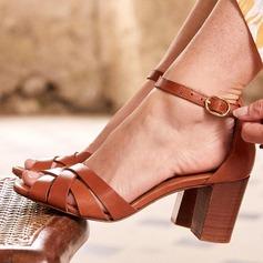 Dámské PU Široký podpatek Sandály S Na přezku obuv