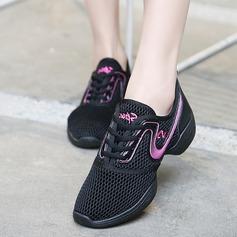 De mujer Cuero Tejido Zapatillas Estilo Moderno Jazz Zapatillas con Agujereado Zapatos de danza