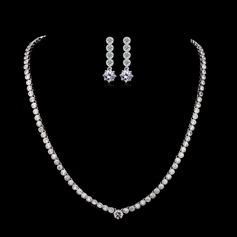 Atrakcyjny Cyrkon/Platinum Plated Ladies ' Zestawy biżuterii