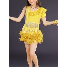 Crianças Roupa de Dança Spandex do Dança Latina Vestidos
