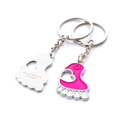Personalized Feet Chrome Keychains (Set of 6 Pairs)