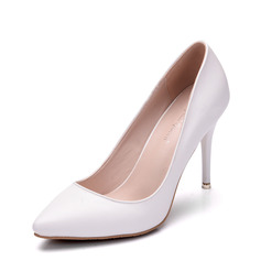 Women's Leatherette Stiletto Heel Closed Toe Pumps With Others