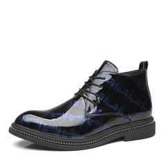 Mannen Patent Leather Vastrijgen Chukka Casual Laarzen voor heren