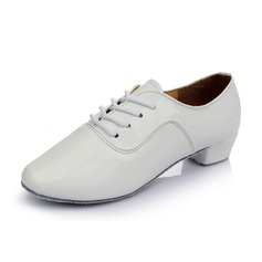 Men's Leatherette Heels Practice With Lace-up Dance Shoes