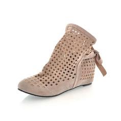 De mujer Ante Tacón bajo Plataforma Cerrados zapatos
