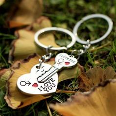 Klassische Art Amors Pfeil Zink Legierung Schlüsselanhänger (Set aus 4 paar) (120037750)