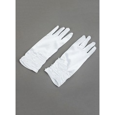 Elastic Satin With Sequin Wrist Length Glove (198076212)