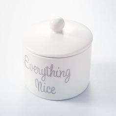 """""""Suiker & Kruid & alles van Nice"""" Keramiek met Linten (Verkocht in één stuk)"""