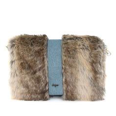 Den Fashional Tyg med Fjäder/Päls Grepp/mode handväskor