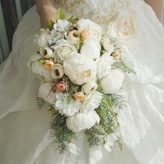 Каскад Шелковые/Ткань Свадебные букеты -