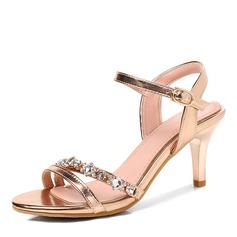 Kvinder PU Stiletto Hæl sandaler Pumps med Spænde sko (087165072)