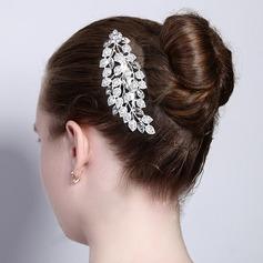 Damen Blätter Förmig Legierung Kämme und Haarspangen mit Strass (In Einem Stück Verkauft)