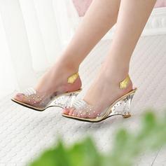Vrouwen PU Wedge Heel Pumps Wedges met Anderen schoenen (116156190)