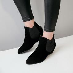 Kvinner Semsket Kile Hæl Kiler Støvler Ankelstøvler med Annet sko