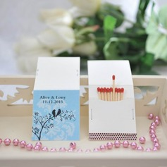 Personalized Lovely Birds Hard Card Paper Matchboxes (Set of 50)