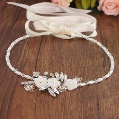 Elegant Legering Pannband med Venetianska Pärla (Säljs i ett enda stycke)