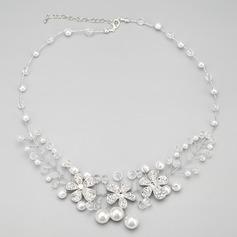великолепный сплав с хрусталь/искусственный жемчуг женские ожерелья