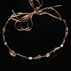 Señoras Glamorosa Aleación/La perla de faux Diademas
