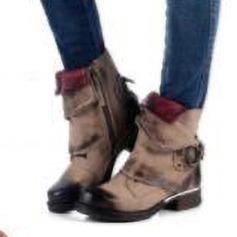Donna Similpelle Tacco basso Stivali أحذية