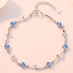 женские восхитительно Стерлингового серебра 925 с Diamond Цирконий Браслеты Ее/Друзья