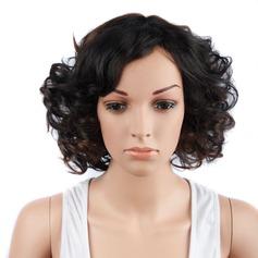 Curly Bob Mid-Length Syntetiske parykker (Selges i ett stykke)