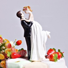 """Love Swept"" Resin Wedding Cake Topper (122036176)"