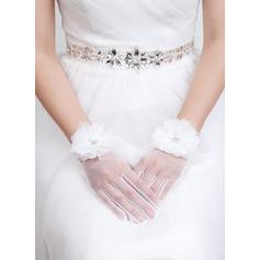 Tulle Wrist Length Bridal Gloves