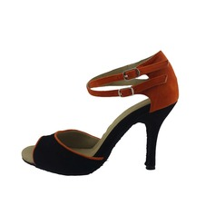 De mujer Nubuck Tacones Sandalias Danza latina con Tira de tobillo Zapatos de danza