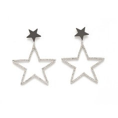 Star Shaped Alloy With Rhinestone Ladies' Fashion Earrings