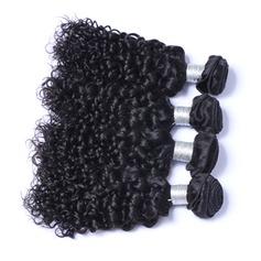 7A Coupe primaire Frisé les cheveux humains Tissage en cheveux humains (Vendu en une seule pièce) 100 g