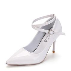 Vrouwen PU Stiletto Heel Pumps Closed Toe schoenen