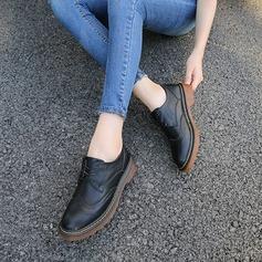 Donna Similpelle Tacco spesso Ballerine con Allacciato scarpe
