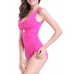 Sexy Solid Color One-piece (202120446)