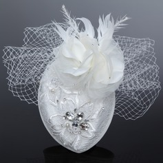 Glamourous Artificial Silk/Net Yarn Fascinators With Rhinestone/Venetian Pearl
