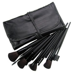 Professional Makeup Brush With Free Case 18PCS (Black) (046022886)
