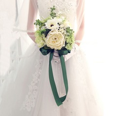 Simple And Elegant Free-Form Artificial Silk Bridal Bouquets - (123105302)