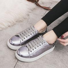 Femmes Similicuir Talon plat Chaussures plates Plateforme chaussures