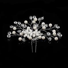 Strass/Alliage/De faux pearl épingles à cheveux avec Perle Vénitienne/Cristal (Vendu dans une seule pièce)