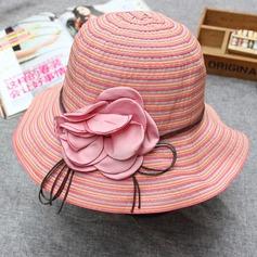 Damene ' Enkel Stoff med Blomst Stiv / Cloche Hatt
