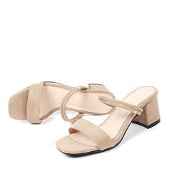 Femmes Suède Talon bottier Sandales Escarpins À bout ouvert avec Autres chaussures