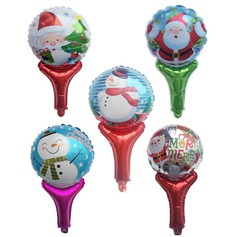 5pcs/set Mixed Color - 18inch - Torch Shaped Christmas Party Balloons