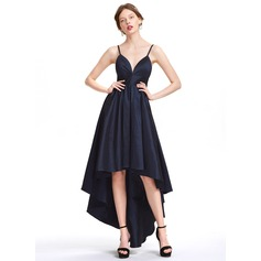 A-Line Sweetheart Asymmetrical Taffeta Homecoming Dress