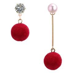 Vackra Och Legering Fauxen Pärla med Oäkta Pearl Kvinnor Mode örhängen (Set av 2)