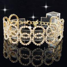 Мода Чешская Камни цинковый сплав с Чешская Камни Женщины Модные браслеты (Продается в виде единой детали)