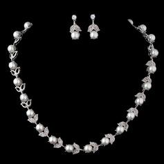Chic Pérola/Zircon Senhoras Conjuntos de jóias