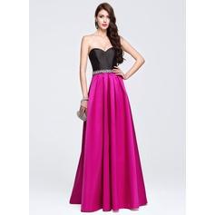 Vestidos princesa/ Formato A Amada Longos Cetim Vestido de baile com Bordado lantejoulas
